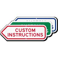 Add Your Custom Instructions Left Arrow Sign
