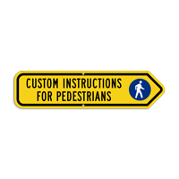 Add Custom Pedestrians Instructions Right Arrow Sign