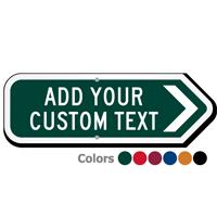 Add Your Custom Text Right Arrow Sign