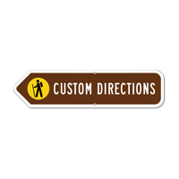 Add Your Custom Direction Left Arrow Sign