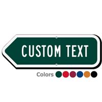 Add Your Custom Text Left Arrow Sign
