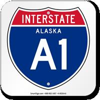 Alaska Interstate A-1 Sign