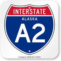 Alaska Interstate A-2 Sign