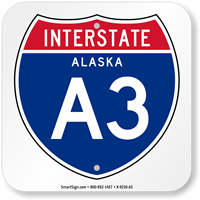 Alaska Interstate A-3 Sign