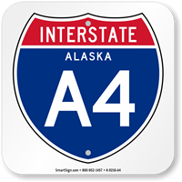 Alaska Interstate A-4 Sign