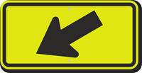 Diagonal Arrow Sign - Fluorescent Sign