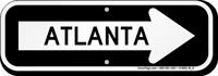 Atlanta City Traffic Direction Sign