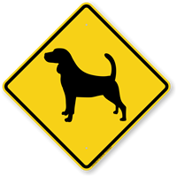 Beagle Symbol Guard Dog Sign