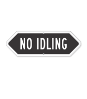 Bi-Directional No Idling Sign