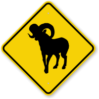 Bighorn Sheep Animal Crossing Sign