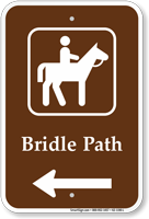 Bridal Path in Left, Campground Guide Sign
