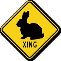 Bunny Xing Road Sign