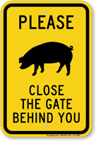 Close The Gate Behind You, Pig Silo Symbol Sign