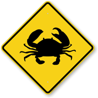 Crab Crossing Symbol Sign