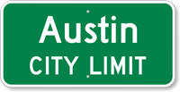 Custom Austin City Limit Sign