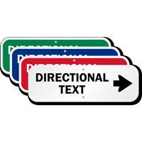 Directional Text - Right Arrow Custom Sign
