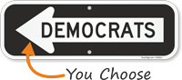 Democrats Sign With Left Arrow
