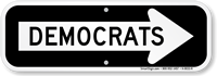 Democrats Sign With Right Arrow