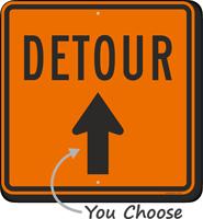 Detour Sign With Arrow