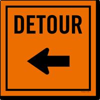 Detour Sign With Choose Arrow