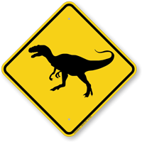 Dinosaur Xing Road Sign