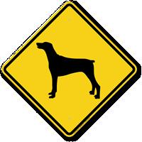 Doberman Symbol Guard Dog Sign