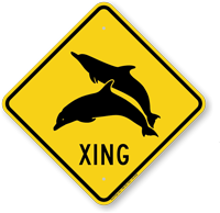 Dolphin Xing Sign