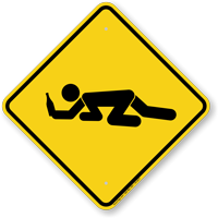 Drunk Student Crossing Symbol Sign