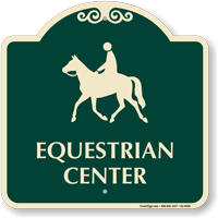 Equestrian Center Signature Sign Sku K2 4658