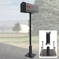 Flexible Mailbox Post Concrete Model