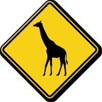 Giraffe Crossing Symbol Sign