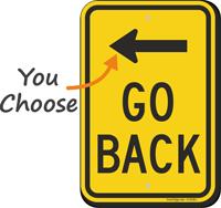 Go Back Sign with Arrow