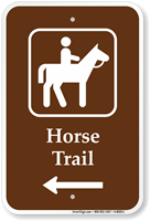 Horse Trail Left Arrow Sign