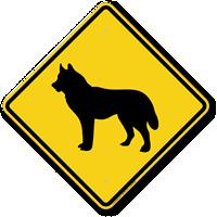 Husky Dog Symbol Crossing Sign