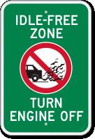 Idle-Free Zone, Turn Engine Off Sign