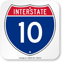 Interstate 10 (I-10)Sign