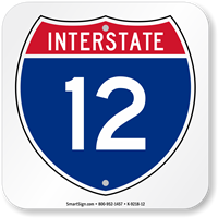 Interstate 12 (I-12)Sign