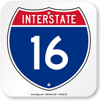 Interstate 16 (I-16)Sign