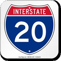 Interstate 20 (I-20)Sign