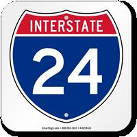 Interstate 24 (I-24)Sign