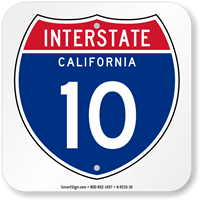 California Interstate 10 Sign