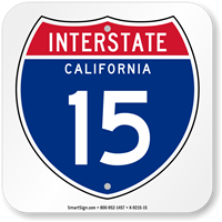 California Interstate 15 Sign