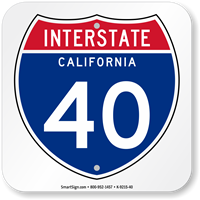 California Interstate 40 Sign
