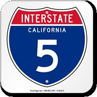 California Interstate 5 Sign