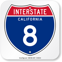 California Interstate 8 Sign