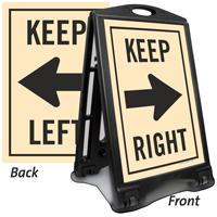 Keep Left Right Sidewalk Sign Kit