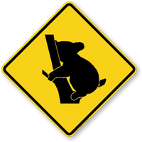 Koala Crossing Symbol Sign
