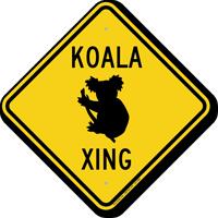 Koala Xing Road Sign