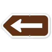 Left And Right Arrow Campground Sign