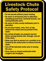 Livestock Chute Safety Protocol Sign